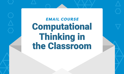 Email Graphic with title Computational thinking in the classroom PD course