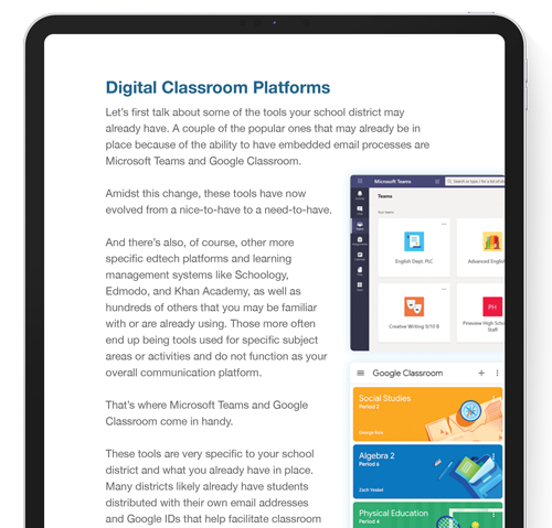 Page of The Ultimate Guide to Distance Learning for Educators on ipad screen