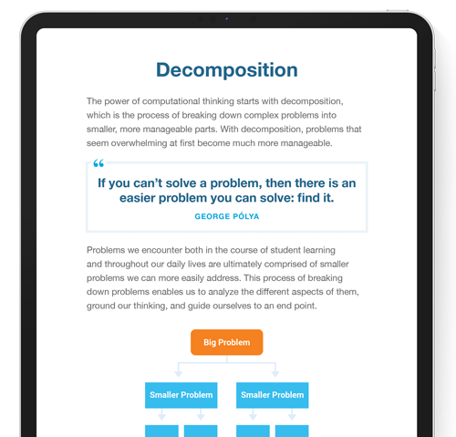 Page of The Ultimate Guide to Computational Thinking for Educators on ipad screen